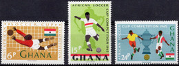 GHANA :1965: Y.222-24*** Postfris/neufs/MNH : VOETBAL/FOOTBALL. - Coppa Delle Nazioni Africane