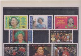 TANZANIE-SM REINE ELISABETH II-2 Séries N°262 A/262B-  317/320-  XX MNH  1985 - Tanzania (1964-...)
