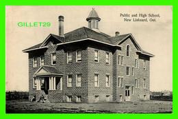 LISKEARD, ONTARIO - PUBLIC AND HIGH SCHOOL, NEW LISKEARD - TRAVEL IN 1911 - PUB. BY STADELMAN BROS - - Otros