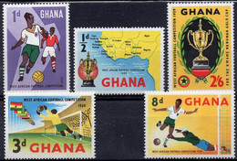 GHANA :1959: Y.54-58*** Postfris/neufs/MNH : VOETBAL/FOOTBALL. - Coppa Delle Nazioni Africane