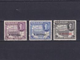 SOMALILAND 1951, SG# 133 - 135, CV £53, Part Set, Personalities, Maps, Used - Somaliland (Protectorate ...-1959)