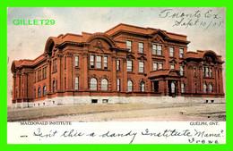 GUELPH, ONTARIO - MACDONALD INSTITUTE - CANADIAN SOUVENIR POST CARD -  WARWICK BRO'S & RUTTER - - Otros