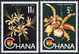 GHANA :1959: Y.49,52*** Postfris/neufs/MNH : BLOEMEN/FLEURS/FLOWERS, LELIE/LYS/LILLY,ORCHIDEE/TIGER ORCHID. - Non Classificati