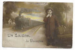 FLORENNES Un Baiser  Train  ( Voir Scan) - Florennes