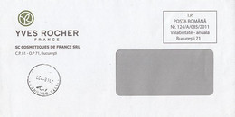 8708FM- YVES ROCHER COMPANY HEADER COVER, 2011, ROMANIA - Lettere