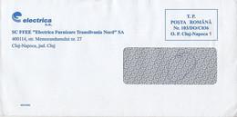 8720FM- ELECTRIC COMPANY HEADER PREPAID COVER, 2009, ROMANIA - Lettere