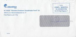 8721FM- ELECTRIC COMPANY HEADER PREPAID COVER, 2009, ROMANIA - Lettere