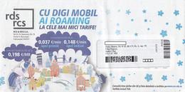 8723FM- TELECOM COMPANY HEADER PREPAID COVER, ABOUT 2012, ROMANIA - Lettere