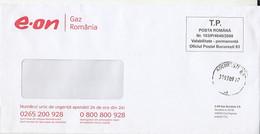 8725FM- GAS COMPANY HEADER PREPAID COVER, 2009, ROMANIA - Lettere
