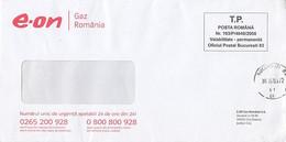 8726FM- GAS COMPANY HEADER PREPAID COVER, 2009, ROMANIA - Lettere