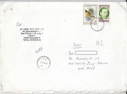 8729FM- BIRD, NICOLAE TITULESCU STAMPS ON COVER, 2010, ROMANIA - Lettere