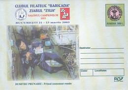 99199- DUMITRU PRUNARIU, ASTRONAUT, COSMOS, SPACE, COVER STATIONERY, 2003, ROMANIA - Europa