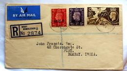 LETTERA RACCOMANDATA 1951 CON MEF 1D ROSSO E 3D VIOLETTO - Occup. Britannica MEF