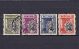 ZANZIBAR 1936, SG# 323 - 326, Personalities, Used - Zanzibar (...-1963)