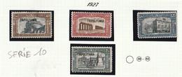 Italia Colonie Tripolitania 1927 Milizia I Franc. D'Italia Soprastampati  Sassone SERIE N. 10 - Tripolitania