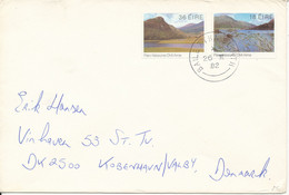 Ireland Cover Sent To Denmark 26-2-1982 With Complete Set Of 2 Killorney National Park - Storia Postale