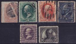 25899# ETATS UNIS WASHINGTON JACKSON (non Compté) GARFIELD WILSON OBLITERES USA UNITED STATES - Used Stamps