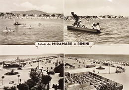 Cartolina - Saluti Da Miramare Di Rimini - Vedute Diverse - 1957 - Rimini