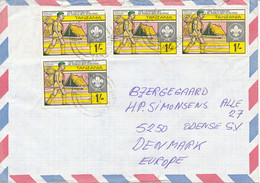 Tanzania Air Mail Cover Sent To Denmark 21-7-1984 SCOUTING Stamps - Tanzania (1964-...)