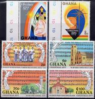 GHANA :1975: Y.541-44*** Postfris/neufs/MNH : KERSTMIS,NOËL,CHRISTMAS, MUSICS,SINGING ANGELS. - Natale