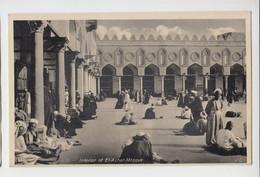 Egypt Cairo Al-Azhar Mosque Interior View Vintage Postcard CPA AK (27444) - Kairo