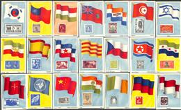 Drapeaux Et Timbres Vlaggen En Postzegels - 63 Chromos - Autres