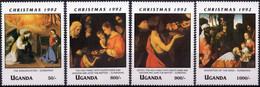 UGANDA :1992: Y.941-44*** Postfris/neufs/MNH :  KERSTMIS,NOËL,CHRISTMAS,PAINTINGS,ZARBARAN. - Natale
