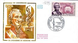 France 1699 Fdc Académie De Médecine - Medicina