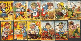 12 Cartes à Jouer - La Famille Boudingras Et Famille Courtepaille - Autres