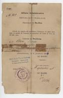 ° Certificat De Nationalité Française ° Extrait Du Registre Des Personnes Réintégrées Dans La Qualité De Français .... ° - Documenti Storici
