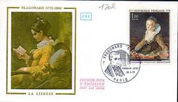 "France 1702 Fdc Fragonard ""La Liseuse"" - Non Classificati"