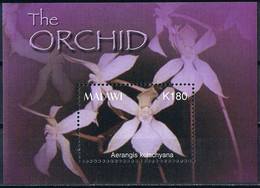 Bloc Sheet Fleurs Orchidees Flowers Orchids   Neuf MNH **    Malawi 2004 - Orchidee