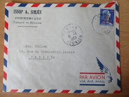 Réunion - Timbre 10f CFA Sur 20f YT N°337 Sur Enveloppe Vers Paris - Tampon Réunion 1958 - Lettres & Documents