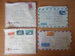 Israël - 4 Enveloppes (dont Un Entier) Voyagées Entre Haifa Ou Tel-Aviv Et Paris Vers 1960 - Storia Postale