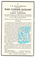 DP Marie Catherine Bacquaert ° Neuve-Église Nieuwkerke 1871 † 1939 X Louis Fortrie - Santini