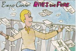 Carte Postale: 1er Salon De La Carpostale RIVES Sur FURE (38), Dessin De R. FARABOZ - Esposizioni