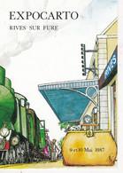 Carte Postale: Expocarto N°2  RIVES Sur FURE (38), Dessin De R. NEMOZ, 1987 - Esposizioni