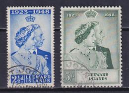 LEEWARD 1949, SG# 117-118, Silver Wedding, Used - Leeward  Islands