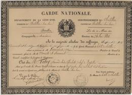° GARDE NATIONALE ° COTE D'OR ° CHATILLON SUR SEINE ° ELECTION DU 24 JUIN 1831 ° - Documenti Storici