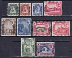 ADEN 1942, SG# 1-10, CV £22, Short Set, Architecture, MH - Aden (1854-1963)