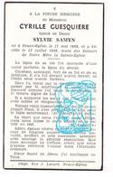 DP Cyrille Guesquiere ° Neuve-Église Nieuwkerke 1868 † 1949 X Sylvie Samyn - Santini