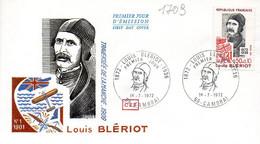 France 1709 Fdc Louis Blériot, Traversée De La Manche ( Channel ) - Aerei