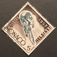 MCO0389U -  Summer Olympic Games 1952 - Helsinki - 5 F Used Stamp - Monaco - 1953 - Gebruikt