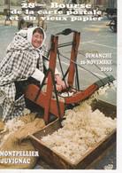 Carte Postale: 28ème Bourse De La Carte Postale, 2000, Montpellier-Juvignac (Hérault), La Cardeuse à Aumelas - Esposizioni