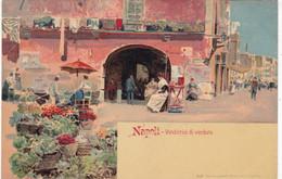ITALIE. NAPLES. CPA. ILLUSTATION.  VENDITRICI DI VERDURA - Napoli