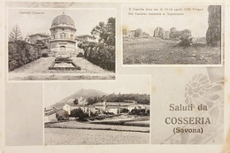 Cartolina - Saluti Da Cosseria ( Savona ) - Vedute Diverse - 1935 Ca. - Savona