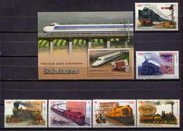 Cuba 2016 / Railways Trains MNH Trenes Züge / Cu1409  31-36 - Treni