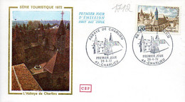France 1712 Fdc Abbaye De Charlieu - Abbazie E Monasteri