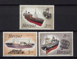 Faroe Islands 1987 MNH 3v No Gum, Trawlers Ships - Barche