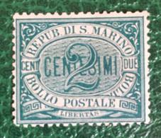 1877-90 - San Marino - Due Centesimi Nuovo Senza Gomma - Nuovi